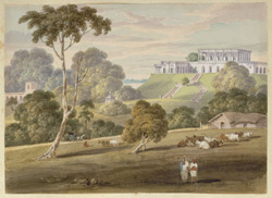 N23 The Hill House at Bhaughulpore from the South East. Septr 1820
